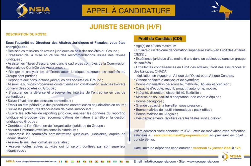 APPEL A CANDIDATURE